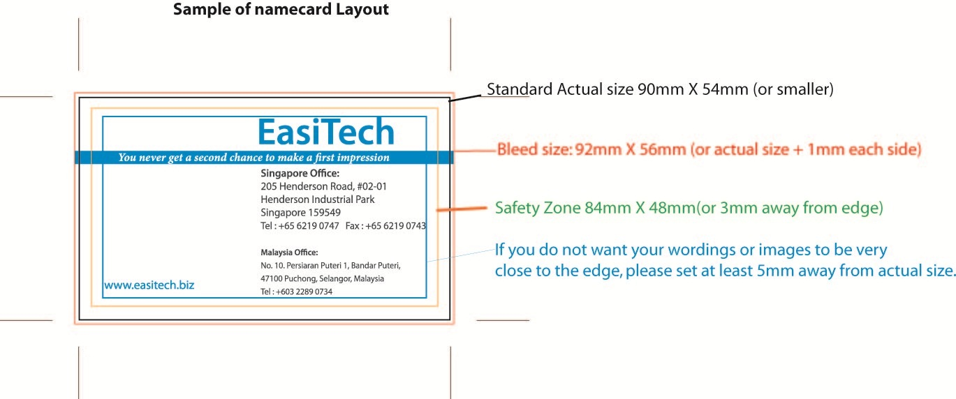 Easitech how to check name card artwork before printing name card artwork colourmoves