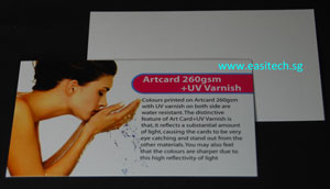 namecard printing singapore artcard 260gsm+UV varnish