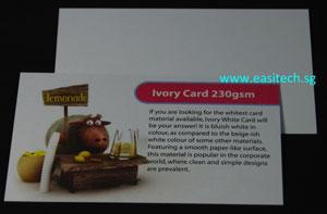 namecard printing Ivory Card 230gsm