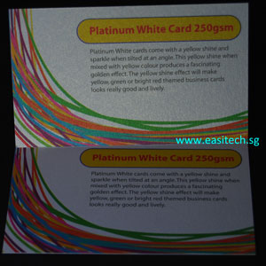 Platinum White Card 250gsm